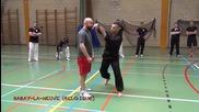 Майстор по бойно изкуство показва перфектна техника в боя!