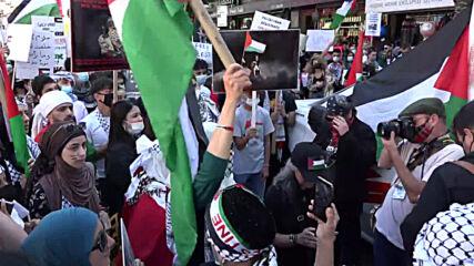 USA: Pro-Palestine demonstrators rally in Brooklyn on Nakba day