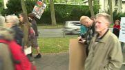 Germany: Demonstrators protest against Europe Lollapalooza festival in Treptower Park