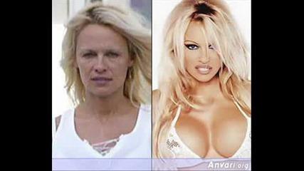 Pamela Anderson без грим