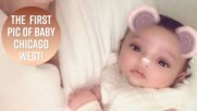 Kim K finally shares first photo of baby Chicago