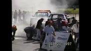 Жестоко палене на гуми опуши всичко