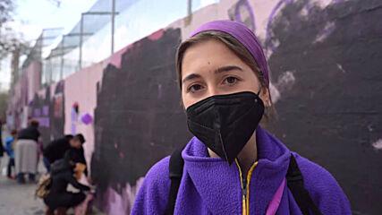Spain: Madrid's famous feminist mural vandalised on International Women's Day