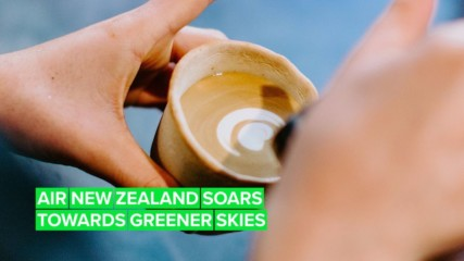 Air New Zealand is serving up coffee in the best way possible