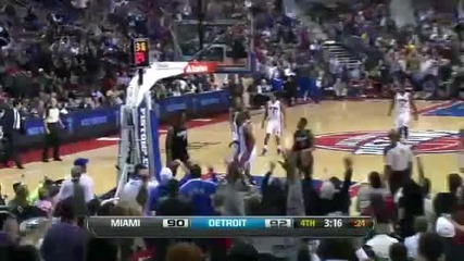 Miami Heat @ Detroit Pistons 101 - 98 [25.01.2012]