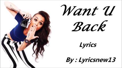 Cher Lloyd - Want U Back ( L Y R I C S )