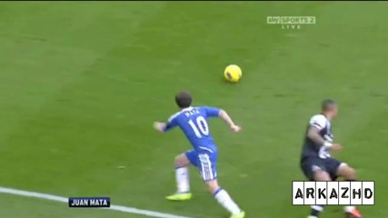 Супер финт на Хуан Мата срещу Нюкасъл Юнайтед !