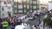 Portugal: Lisbonites rally for 'Oxi' voters outside EU offices