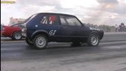 Toyota Supra Turbo vs Vw Golf mk1 Tdi