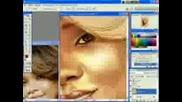рисуване на Rihanna с photoshop