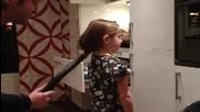 Как се връзва коса на опашка!