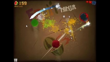 Fruit Ninja: Classic Mode My gameplay