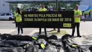 Brazil: Amnesty Intl. protests against police violence at IOC headquarters in Rio
