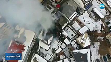 Пожар обхвана три къщи в центъра на Габрово