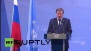 Russia: Minute of silence held for Sinai plane crash victims at UN Anti-Corruption conf.