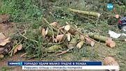 Торнадо разруши къщи в Полша