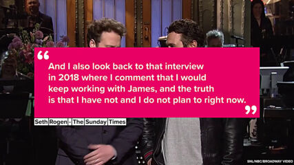 Seth Rogen admits accusations against James Franco affected their friendship