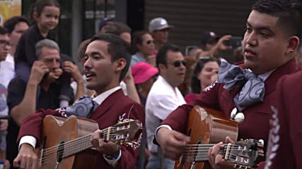 Mariachi bands from around the world parade in Guadalajara