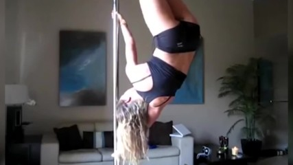 Hot Girl On Stripper Pole Fail