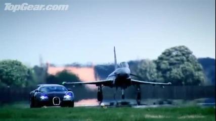 Top Gear Bugatti Veyron vs Euro Fighter