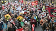 Thousands March in London to Protest Austerity Measures