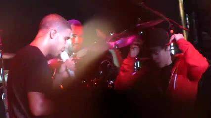 justin Bieber и Drake на концерт в Индианополис 13 Aвгуст 2010