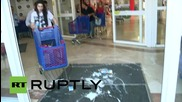 Spain: No tears over this spilt milk! Farmers crash Carrefour supermarket