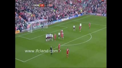 Steven Gerrard Free Kick vs Arsenal 2007-2008