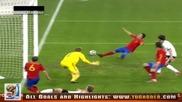 07.07.2010 Германия - Испания 0:1 Всички голове и положения - Мондиал 2010 Юар