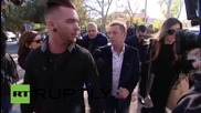 New Zealand: AC/DC drummer Phil Rudd enters court before threatening to kill sentencing