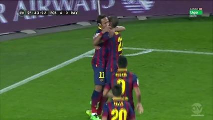 Neymar вкарва гол и изрази радостта си