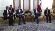 Iran: FM Zarif meets with German ex-Chancellor Schroder in Tehran