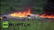 Panama: 10.9 tonnes of drugs goes up in smoke