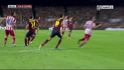 Барселона вдигна Суперкупата на Испания, благодарение на Валдес и въпреки пропусната от Меси дузпа