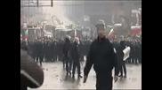 Полицейски Произвол! Протест Край Орлов Мост! *14.01.2009г*