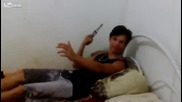 Идиот с пистолет