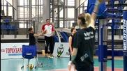 Волейнационалките със здрави тренировки преди мача с Чехия