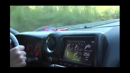 Corvette Z06 Lpe 600 коня срещу Gt-r 600 коня