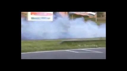 Дрифт количка пали гуми