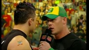 R A W 06/22/09 John Cena говори с The Miz очи в очи.