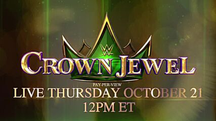 WWE Crown Jewel set for Thursday, Oct. 21