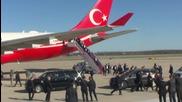 Ердоган пристигна в САЩ, вижте кой го посрещна