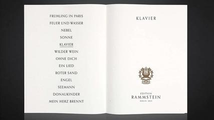 Rammstein - Klavier (piano version)