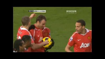Манчестър Юнайтед - Блекбърн 4 - 0 хеттрик на Бербатов
