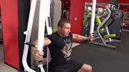 Фитнес упражнения - Флайс на пек-дек машина