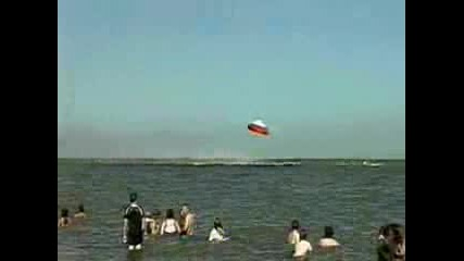Самолет Хариър Се Разбива Над Водата