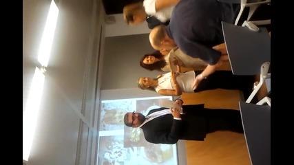 Презентация пред кметството и медиите в Бадалона, Испания, част 6