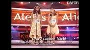 Момиче се уригва а другото пее - Америка търси таланти ! Смях цял свят им се смее !