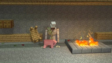 Cooking with the Iron Golem_ Pig