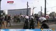 Руския марш във Варшава приключи с кръв и арести